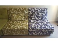 Beautiful multi-colour multi pieces sofa set