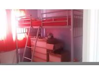 Silver High rise bed frame