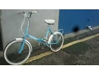 Vintage ladies folding bike