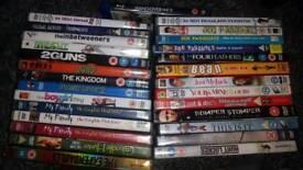 Bundle of 29 various dvds. My family, idiot abroad, imbetweeners, hurt locker, mr bean boxset,...