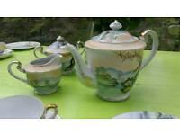 Fine Chinese eggshell tea set