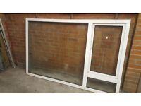 Large double glazed PVC window panel