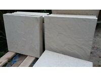 Buff Riven Paving Slabs 450 x 450