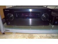 Pioneer SC LX57 AV Receiver & BDP LX58 BD Blu Ray universal Disc Player (DVD, CD SACD)