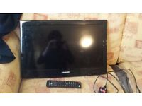 """Blaupunkt 24""""; LED HDTV with DVD player - For parts/Broke screen"""