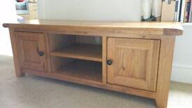 solid oak T.V. cabinet