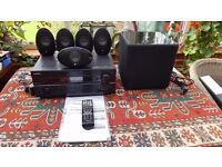 Home cinema 7.2 channel audio-video 140 watt receiver system from one of the top manufacturers