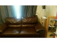 3 2 and 1 leather sofa