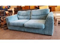Light blue cord 2 seater sofa