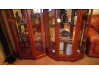 Mahogany display cabinets