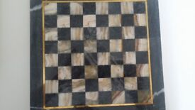 Marble chess set from Turkey. Nice size 25cm x 25cm, perfect unused condition.