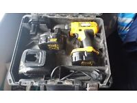 dewalt 14.4 drill with 3 batteries and charger