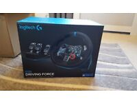 Logitech G29 steering wheel and pedals for ps3 /ps4 NEW