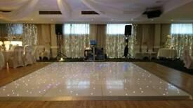 White led portable dance floor