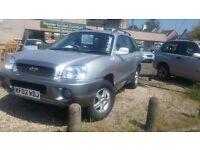 2004 HYUNDAI SANTA FE 2.4 petrol tow bar E/SUNROO good tyres motd