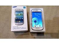 Samsung galaxy S3 mini 8gb factory unlocked excellent use condition boxed