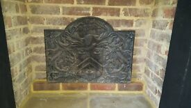 Cast Iron Fireplace Back Plate