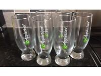 6 x Appletiser glasses