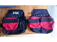 Heavy Duty Tool Belt - Tool Belt Bags x2