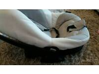 Bebecar seat white leather