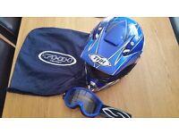 Motocross Helmet and goggles
