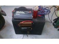 car subwoofer/amplifier