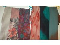 Scarfs shawls set 6 items set scarves