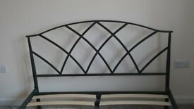 Next - Black Anthracite Metal Bed Frame (Double)