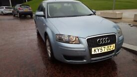 AUDI A3 ,SE 2007 57 ,1.6, 3 DOOR HATCH BACK ,LONG MOT,