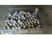 250 Mixed Golf Balls (various makes and weights)