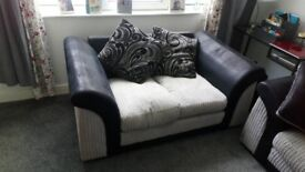 Large corner suite and 2 seater sofa also