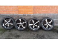 OZ X Line 17'' 215/45/17 Set of 4 Alloy Wheels + Tyres 7J x 17 ET 42 4x100