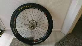 """2 x halo combat Hope sun rims 26"""" front hub wheels with maxis tyres"""