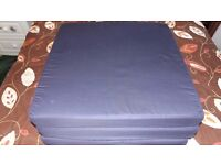 Navy Blue 100% Cotton Fold Out ZBed Cube