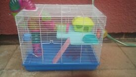 hamster/gerbel cage with accessories