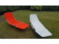 Garden furniture....free to collect. Rather old fashioned loungers but still functional.