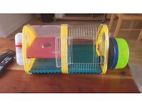 Dwarf hamster small plastic cage