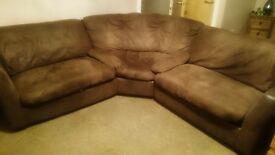 Brown stollers corner sofa