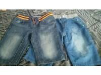 2 pairs of boys denim shorts