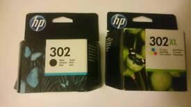 2x cartridge ink toner HP 302