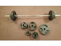 Bodymax Olympic Cast Tri-Grip Barbell Kit with 6ft bar, over 150kg!