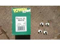 Round 10mm white Tower cable clips