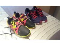 2 pairs of Size 3 Reebok Trainers in Excellent Condition