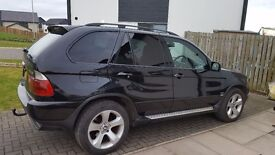 BMW X5 D SPORT, 53 plate, black with tinted windows, Full black interior vgc. Mot April 17.