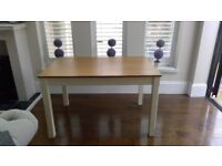 Extendable kitchen/dining table, v good condition, hardly used
