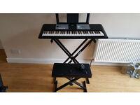 Yamaha PSR E233 electronic keyboard c/w stand and stool