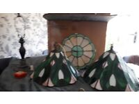 Tiffany style lighting and clock - reposted as held for buyer who failed to collect