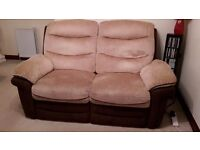 Double electric recliner sofa