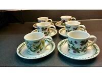 Botanic Garden Espresso Cups and Saucers