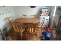 Dining table and 6 chairs £100